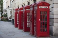 Contenitori di telefono, Londra Fotografie Stock Libere da Diritti