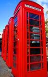 Contenitori di telefono rossi Fotografie Stock