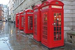 Contenitori di telefono rossi Immagine Stock