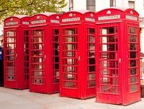 Contenitori di telefono rossi britannici Immagini Stock Libere da Diritti