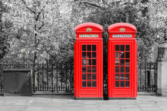 Contenitori di telefono rossi di Londra Fotografia Stock Libera da Diritti