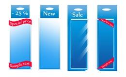 Contenitori di vetro di vendita. Vettore Fotografia Stock Libera da Diritti