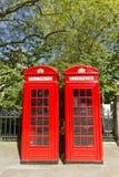 Contenitori rossi di telefono di Londra Immagine Stock Libera da Diritti