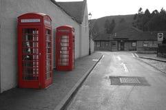 Contenitori tradizionali di telefono Fotografie Stock Libere da Diritti