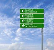 content administration arkivbilder