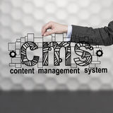 content administrationssystem Arkivfoton