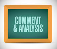 Content and analysis board sign illustration Stock Photo