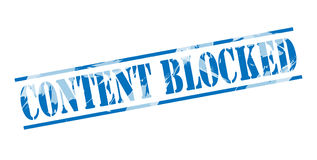 Content blocked blue stamp Stock Images