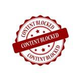 Content blocked stamp illustration. Content blocked red stamp seal illustration design Stock Image