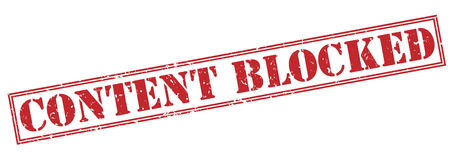 Content blocked red stamp Stock Image