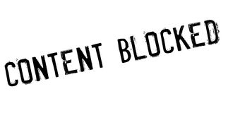 Content blocked rubber stamp Stock Photo