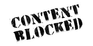 Content Blocked rubber stamp Stock Photos