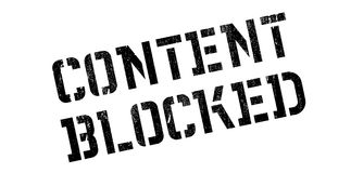 Content Blocked rubber stamp Royalty Free Stock Images