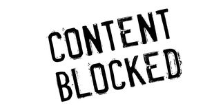 Content Blocked rubber stamp Royalty Free Stock Photos