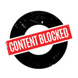 Content Blocked rubber stamp Royalty Free Stock Photography