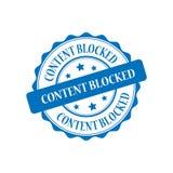 Content blocked stamp illustration. Content blocked blue stamp seal illustration design Stock Images