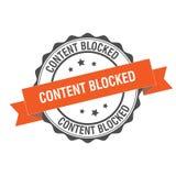 Content blocked stamp illustration. Content blocked stamp seal illustration design Royalty Free Stock Photos