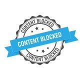 Content blocked stamp illustration. Content blocked stamp seal illustration design Stock Image