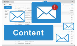 Content Blogging Data Internet Media Sharing Concept Royalty Free Stock Photos