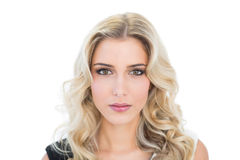 Content blonde model looking at camera Stock Image