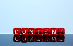 Content blue Stock Photography