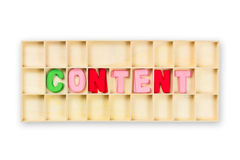 Content Box Royalty Free Stock Photo