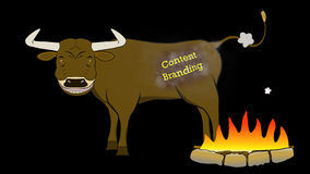 Content Branding-Bull-Animated-Transparent stock footage