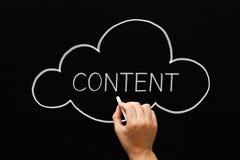 Content Cloud Concept Blackboard Royalty Free Stock Photos