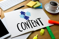 CONTENT CONCEPT  data Blogging Media , Journalism Global Daily N Royalty Free Stock Photos