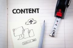 Content concept. social media, digital marketing and internet business.  Royalty Free Stock Images