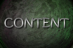 Content Concept Royalty Free Stock Images