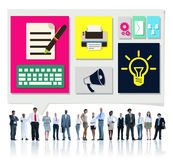 Content Connect Social Media Data Blog Concept Royalty Free Stock Image