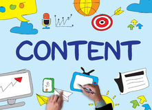 CONTENT   (Content Data Blogging Media&Social Networking Connect. CONTENT   (Content Data Blogging Media&Social Networking Connection ) businessman work on Royalty Free Stock Photography