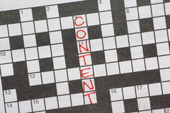 Content Crossword Puzzle Royalty Free Stock Photo