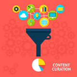 Content Curation Flat Concept Stock Photos