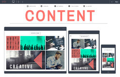 Content Data Blogging Media Publication Concept Royalty Free Stock Images