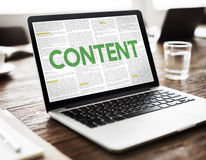 Content Data Internet Media Sharing Cheerful Concept Royalty Free Stock Photos