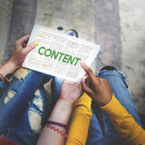Content Data Internet Media Sharing Cheerful Concept Stock Photos