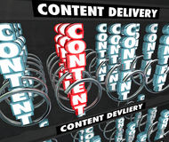 Content Delivery Network Information Sharing Photos Video vendin Royalty Free Stock Image