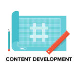 Content development flat illustration Stock Images