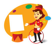 Content Frame for Entertainment : Circus Lady Royalty Free Stock Photography