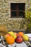 content fruktpomegranatered kärnar ur sommar Royaltyfri Fotografi