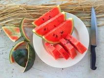 content fruktpomegranatered kärnar ur sommar Royaltyfri Foto