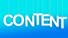 Content hanging letters Royalty Free Stock Photography