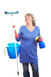 Content housewife Stock Photo