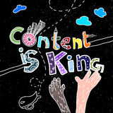 Content is King. An abstract illustration on Content is King royalty free illustration