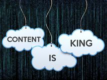 Content is king on cloud banner Stock Photography