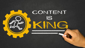 content is king Royalty Free Stock Photos