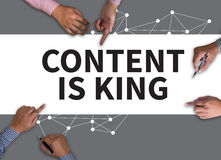 CONTENT IS KING concept Stock Photography