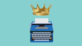 Content is king illustration with type tools and gold crown Stock Photos